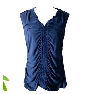 Kenneth Cole Navy Blue Blouse